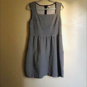 Stripe Medium black and white dress Merona